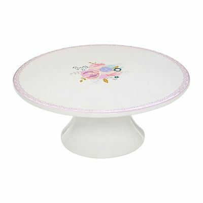 Amelie Cake Stand, Dolomite, Floral Pattern