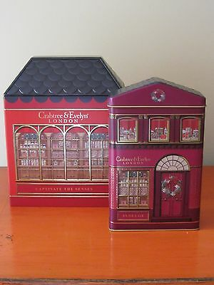 Crabtree & Evelyn- 2 x Collectible Tins - Shop / Store BRAND NEW & HARD TO FIND
