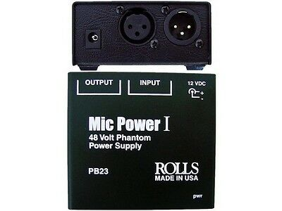 Rolls PB23 1 CH Phantom Power Adapter