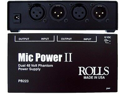 Rolls PB223 2 CH Phantom Power Adapter