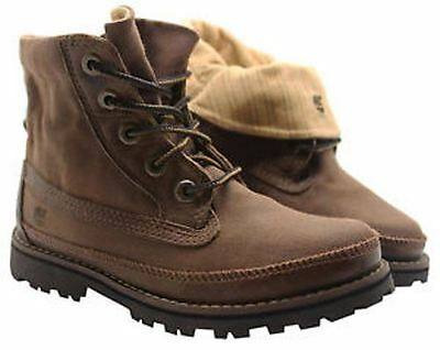 Timberland Asphalt Trail Roll Top Boys Canvas Boots - Brown 81745 - UK Size 1