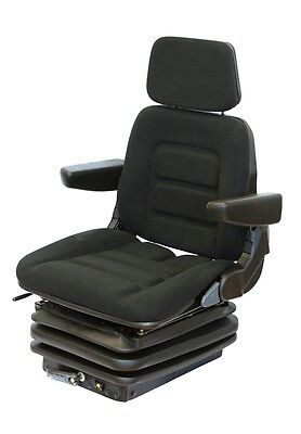 Fiat Tractor seat Fabric Black Tractor Seat with armrests and Headrest