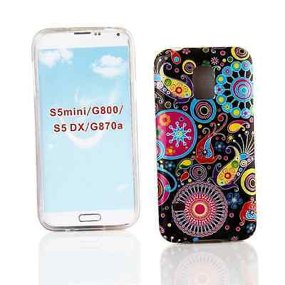 Kit Me Out UK TPU Gel Case for Samsung Galaxy S5 MINI - Multicoloured / Black Re