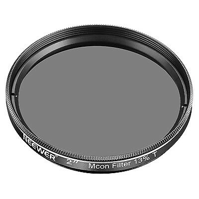 "Neewer 2"" 13% Transmission Moon Filter Optical Glass, Metal Cell Construction"