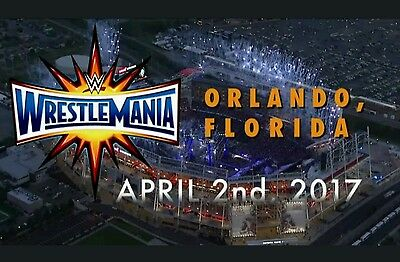 wrestlemania 33 tickets x 2 section 215 row cc