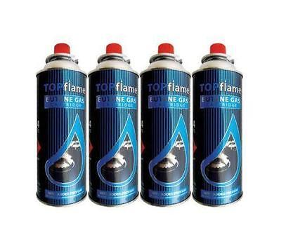 4 X 220g BUTANE GAS CAN CANISTERS BOTTLES PORTABLE STOVES HEATERS FLAMES COOK