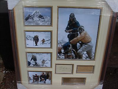 SIR EDMUND HILLARY  and TENZIG NORGAY Everest 1953  Signed  Montage AFTAL
