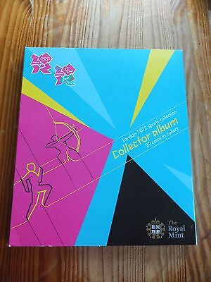 Royal Mint 2012 Olympic 50p coin album