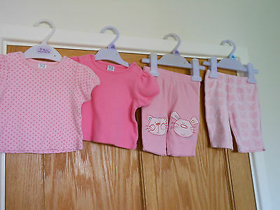 Baby Girl T-Shirts x2 and Trousers - Size 0-3 months