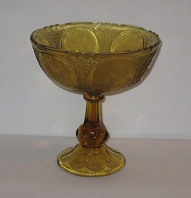 Vintage Depression Glass Pedestal Fruit Bowl 9 1/4'' High  FREE SHIPPING