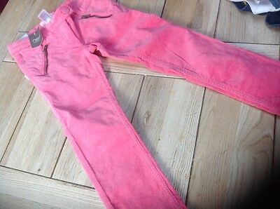 next needle cord, pink trousers BNWT age 6