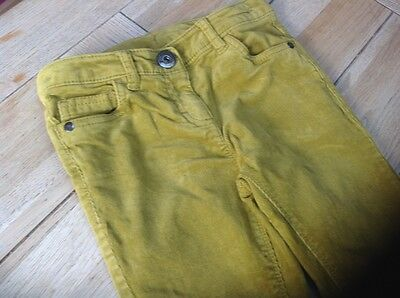 Next needle cord trousers, mustard age 8