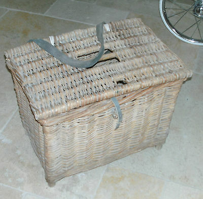 Old Vintage Wicker Fishing Basket Decorative Memorabilia