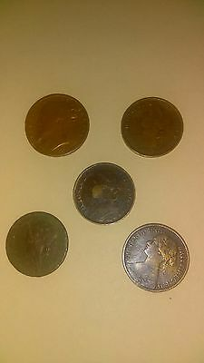 5 Queen Victoria Farthings
