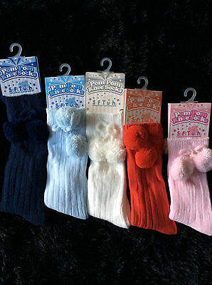 Dream Baby Boutique Spanish Pom Pom Socks Various Colours 0-12 Months
