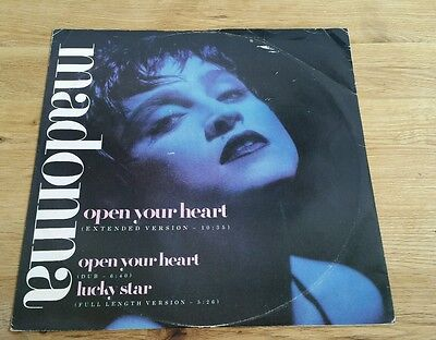 """Madonna, Open Your Heart, 12"""" Ep 1986 Uk 1St Press A-1/b-1"""
