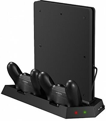 Younik VG-15 PS4 Slim Vertical Stand Cooling Fan With Dualshock Controller And