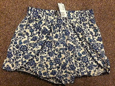 Floral Shorts ~ Size 14 / H&M - New
