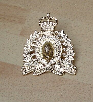 Canadian Mounties annodised cap badge