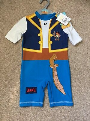 Baby Boys Swim Suit All In One, Boots, Age 18-24 Months New With Tags