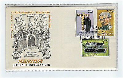 Timbre Mauritius/ile Maurice Enveloppe 1Er Jour First Day Cover 1979 Pere Laval
