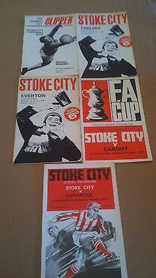 5 Stoke City Football Programmes (1966-70)