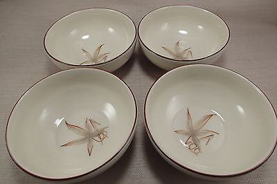 Winfield China PASSION FLOWER Cereal Bowls - Set of Four