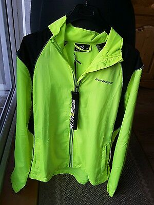 Run365 High Viz lightweight jacket running cycling motorcycle Run 365 NEW
