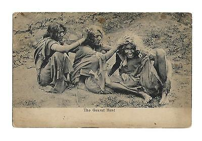 "India  Vintage Postcard  Social History  ""The Guzrat Hunt"""