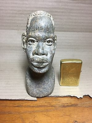 Vintage African Carved Stone Head Bust