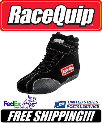 RaceQuip SFI 3.3/5 Black Suede Leather Euro Carbon Racing Shoes 10.5 #30500105