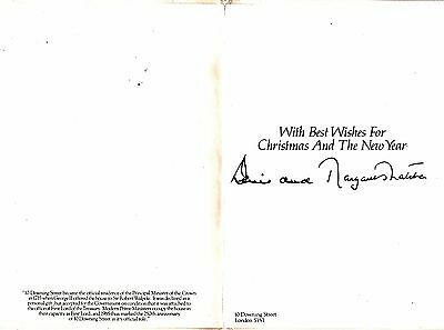 Prime Minister Margaret Thatcher Signed Christmas Card From 10 Downing Street