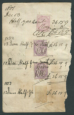 1880-83 Postage & revenue stamps. 4 different types
