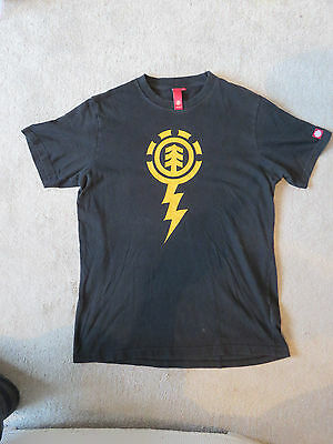 Men's T-shirt by Element - Black with Yellow Motif. Size M