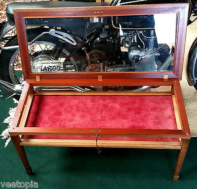 vintage jewelry collection display case cabinet - mid century retro antique
