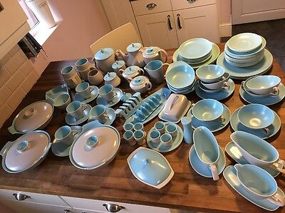 Poole Pottery Twintone Sky Blue And Dove Grey Job Lot