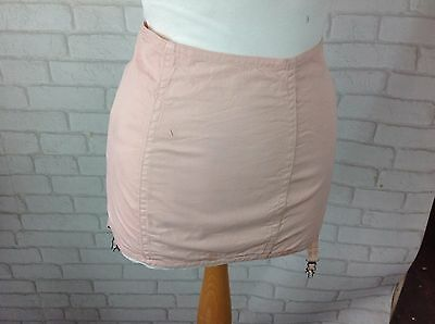 Vintage 1960's Baby Pink Elasticated Waist Girdle 4 Suspenders Hook and Eye