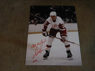 Darryl Sittler Detroit Red Wings autographed 8x10