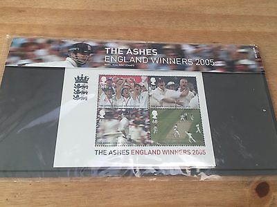 The Ashes, England  Winners 2005 stamps