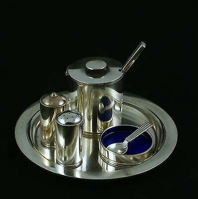 Georg Jensen Sterling Silver Cruet Set on Tray #801 - Bernadotte