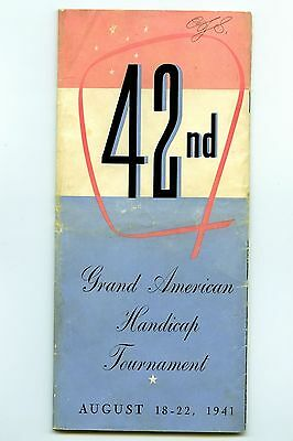 Vintage ATA trapshooting 42nd Grand American booklet 1941 15 pages 4 x 9 inches