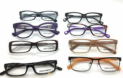 Dolce & Gabbana  Designer Eyeglasses (8) X (Lot) Plastic Metal Men Women