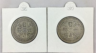 1931 & 1936 George V Silver Florin / Two Shilling Coins
