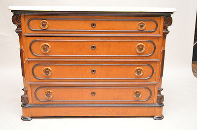 Antique French Marble Top Commode , Chest of Drawers