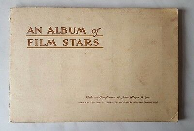 Players AN ALBUM OF FILM STARS (1st Series) 1934 - FULL SET OF CARDS STUCK IN