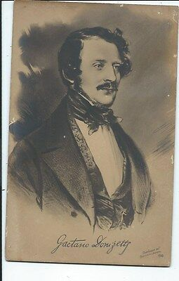 GAETANO DUNIZETTY Italy Classical Music Composer early Postcard