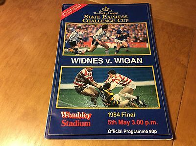 Rugby League Challenge Cup Final official Programme Widnes V Wigan