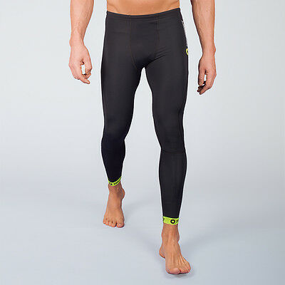 Zeropoint Compression Mens Tights Black/yellow - Save 50%
