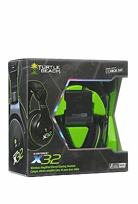 Turtle Beach X32 - Xbox 360 Wireless Amplified Stereo Gaming Headset & Mic - New