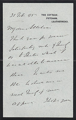 Admiral Sir George Henry Richards Signed Letter - Naval Officer and Hydrogapher